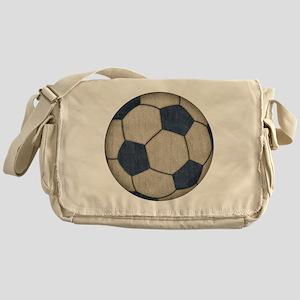Fabric Soccer Messenger Bag