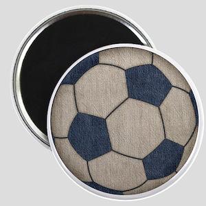 Fabric Soccer Magnet