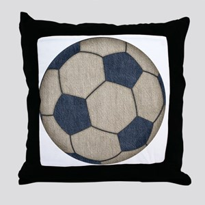 Fabric Soccer Throw Pillow