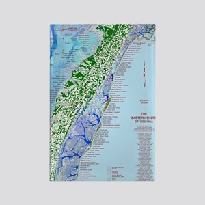 7002 Eastern Shore Map Rectangle Magnet