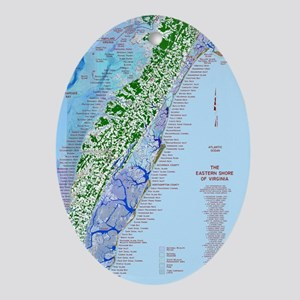 7002 Eastern Shore Map Oval Ornament