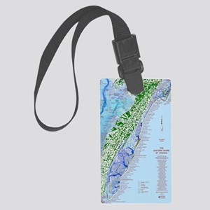 7002 Eastern Shore Map Large Luggage Tag