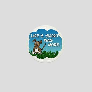 Wag More Square Mini Button