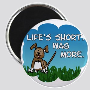 Wag More Square Magnet
