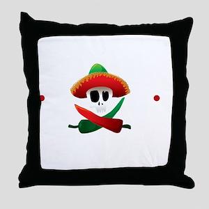 hotSauceBlk Throw Pillow