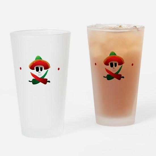 hotSauceBlk Drinking Glass