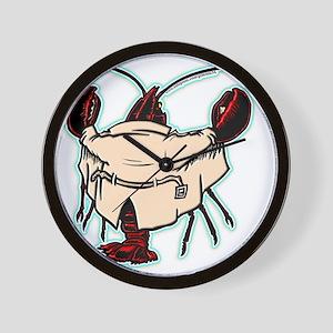 lobsterflash_blk1 Wall Clock