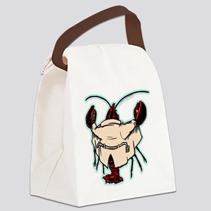 lobsterflash_blk1 Canvas Lunch Bag