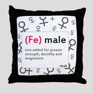 ladiesfront Throw Pillow