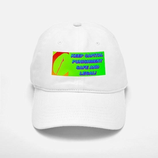 keep ital punishment(small framed print) Baseball Baseball Cap