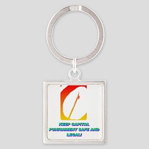 KEEP CAPITAL PUNISHMENT(white) Square Keychain