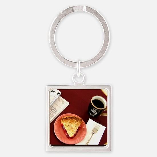 cherry pie Square Keychain