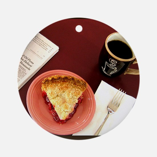 cherry pie Round Ornament