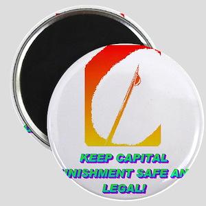 KEEP CAPITAL PUNISHMENT(white) Magnet