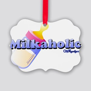 Milkaholic Picture Ornament