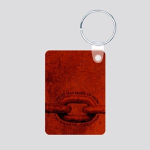 JOURNAL_ChristFreedUsFromB Aluminum Photo Keychain
