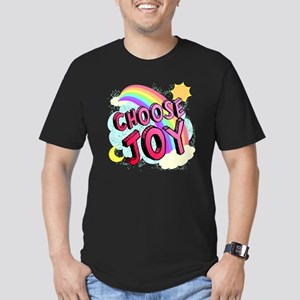 Choose Joy Large Men's Fitted T-Shirt (dark)