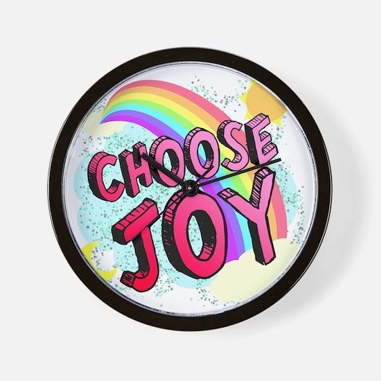 Choose Joy Large Wall Clock