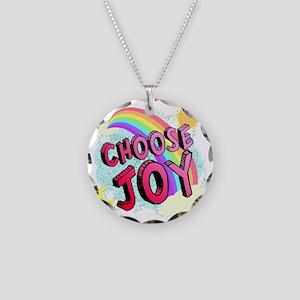 Choose Joy Large Necklace Circle Charm