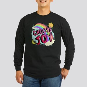 Choose Joy Large Long Sleeve Dark T-Shirt