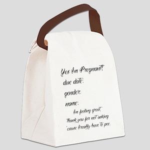 fitb preggo tee Canvas Lunch Bag