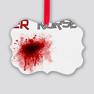 ER  Nurse Blood Gails Picture Ornament