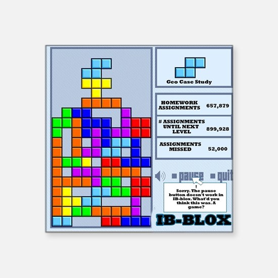 "ibbloxfront Square Sticker 3"" x 3"""