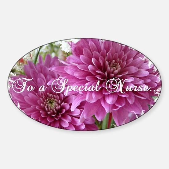 To a Special Nurse Sticker (Oval)