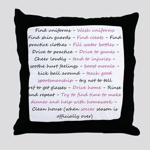 asoccermomsday-back Throw Pillow