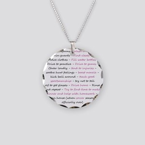 asoccermomsday-back Necklace Circle Charm