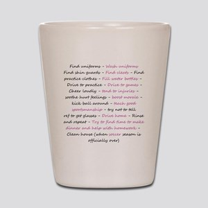 asoccermomsday-back Shot Glass