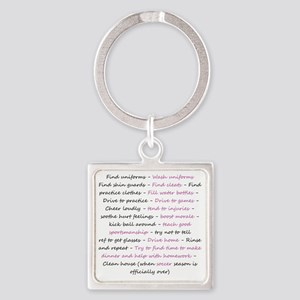 asoccermomsday-back Square Keychain