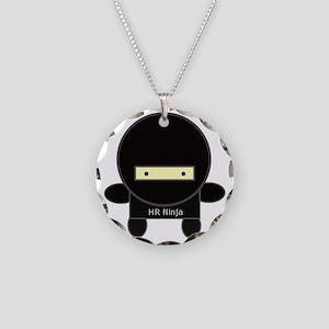 ninja-big Necklace Circle Charm