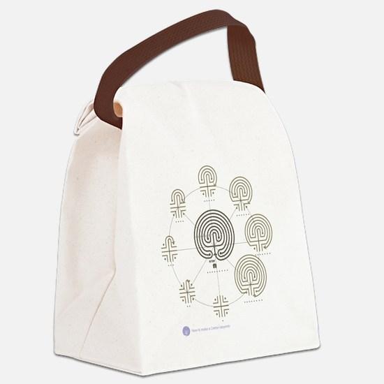 2-Cretan Labyrinth drawing Canvas Lunch Bag