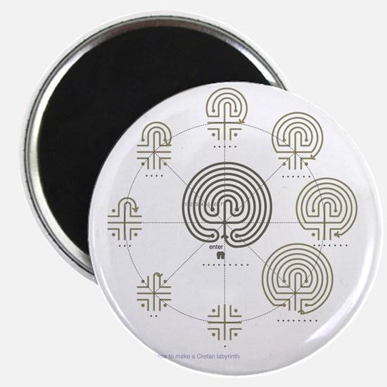 2-Cretan Labyrinth drawing Magnet