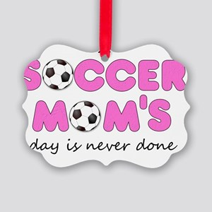 asoccermomsday-front Picture Ornament