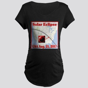 Solar Eclipse USA 2017 Maternity Dark T-Shirt