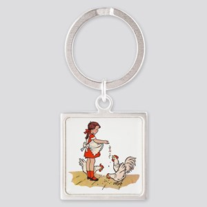 Chicken Square Keychain