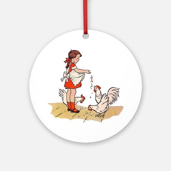 Chicken Round Ornament