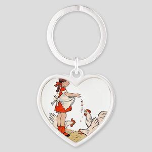 Chicken Heart Keychain