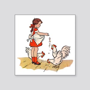 "Chicken Square Sticker 3"" x 3"""