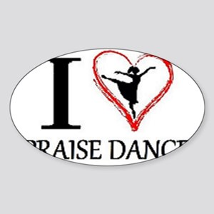 3-dancing Sticker (Oval)