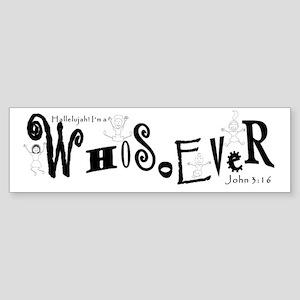 WhoTee3 Sticker (Bumper)