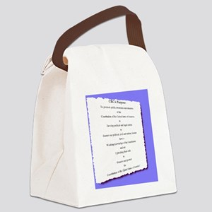 CRCA purpose blue (2000 x 2211) Canvas Lunch Bag