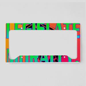 LEGISLATE MORALLY(banner) License Plate Holder