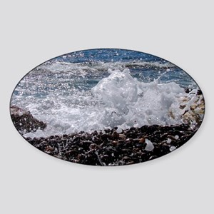wave action shot Sticker (Oval)