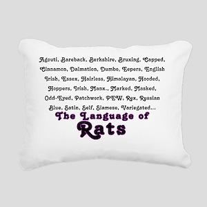 LanguageRats Rectangular Canvas Pillow