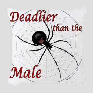 deadlierspider Woven Throw Pillow