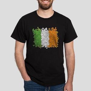 Shamrocks Irish Flag Dark T-Shirt