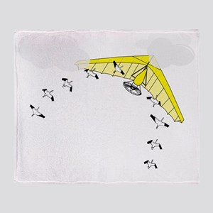 Fly Over Me Throw Blanket